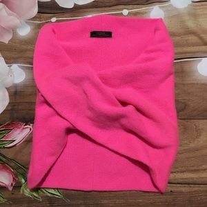 J. Crew pink collection cashmere infinity scarf